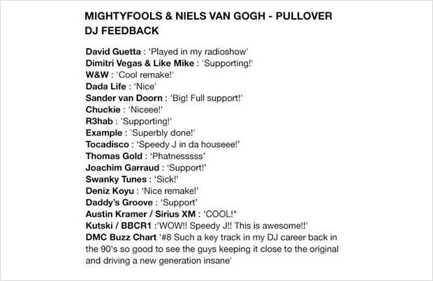 """Mightyfools & Niels van Gogh """"Pullover"""" - djmix24.de"""