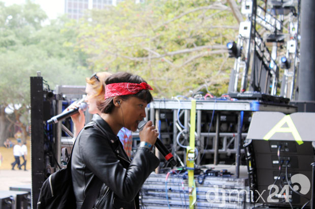 Icona Pop beim Soundcheck.